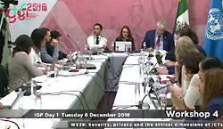 IGF 2016 - day 1 - WK 4 - WS38 - Security, Privacy and the Ethical Dimensions of ICTs in 2030